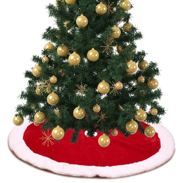 Us 2778 30 Off122 Cm 1 Sztuk Jagnięcina Kaszmiru Choinki Spódnice Boże Narodzenie Dekoracje Dla Domu Czerwone I Białe Płatki śniegu Drzewo