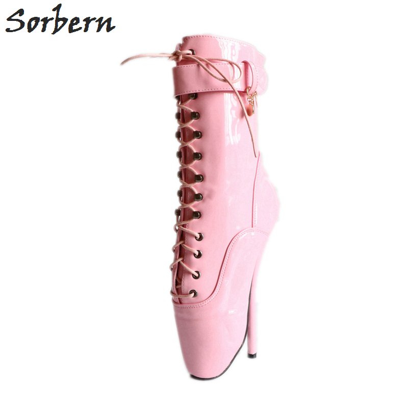 Sorbern 18cm Babe Pink Shiny Sexy Fetish Boots High Heel Pinup Cosplay Boots Ballet Dance Show Boots Ballet New Size 46Sorbern 18cm Babe Pink Shiny Sexy Fetish Boots High Heel Pinup Cosplay Boots Ballet Dance Show Boots Ballet New Size 46