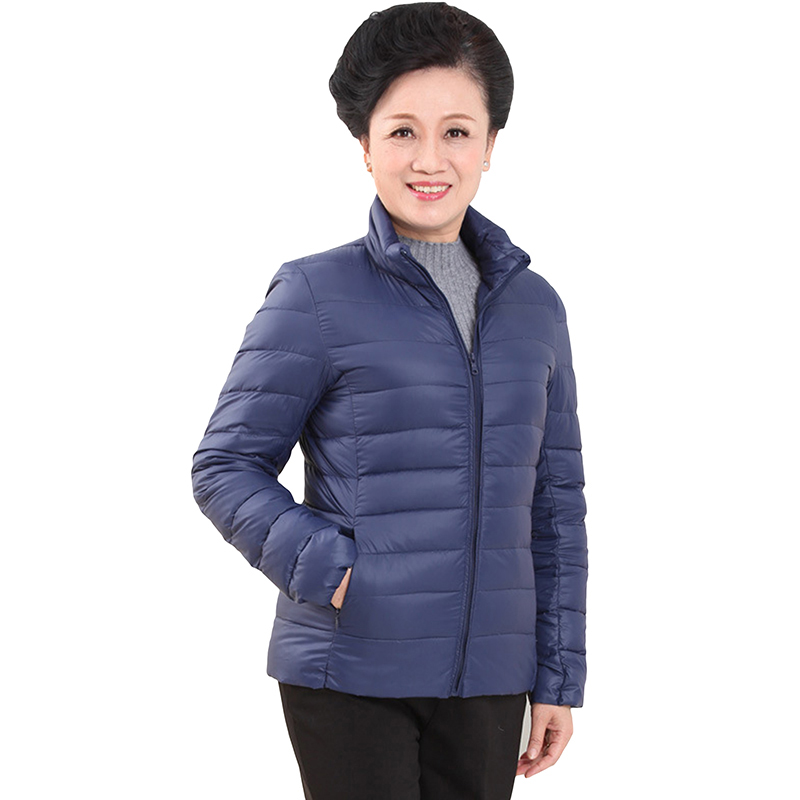 2018 Ultra Light Duck   Down   Jacket Short Stand Collar Plus Size Light Thin   Down     Coats   Middle-Aged Casual Outerwear   Coat   YP0871