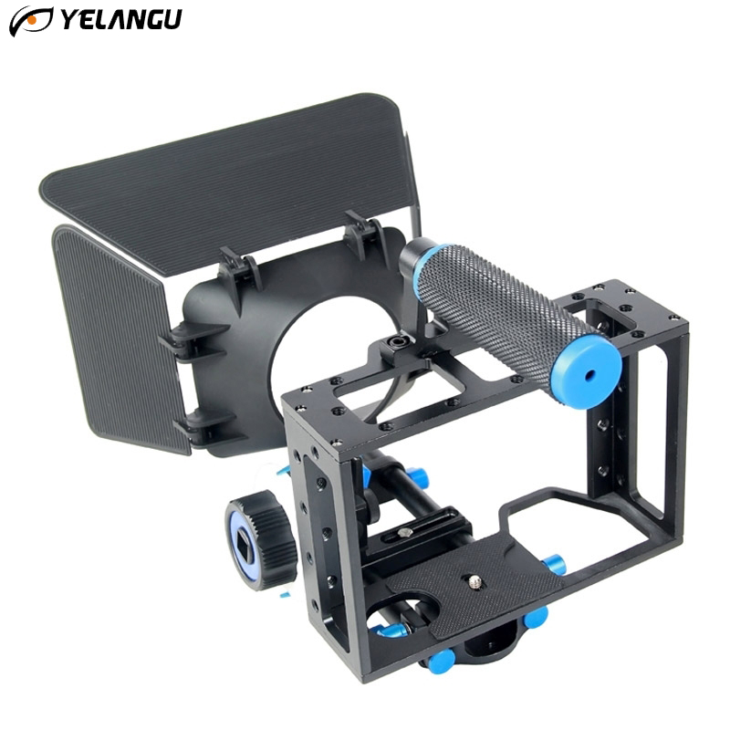 цена на YELANGU Handle DSLR Rig Stabilizer For Sony A7S A7 A7R A7RII A7SII DLSR Video Camera Cage Follow Focus Matte Box Stabilizer