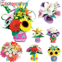 BalleenShiny Artificial EVA Flower Kid DIY Toys Puzzle Sunflower Bouquet Brinquedos Early Educational Intelligence Kindergarten