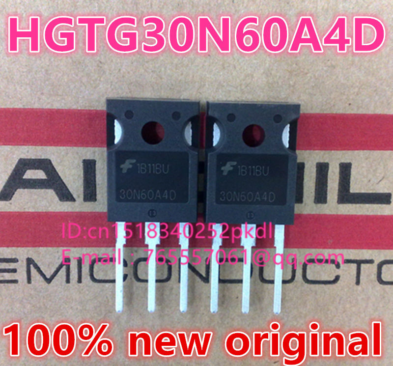 100% new imported original  HGTG30N60A4D HGTG30N60  30N60A4D TO-247 IGBT commonly used in electric welding machine 600V 75A free shipping 100% new original 5pcs lot hgtg30n60a4d 30n60a4d hgtg30n60 30n60 600v smps series n channel igbt