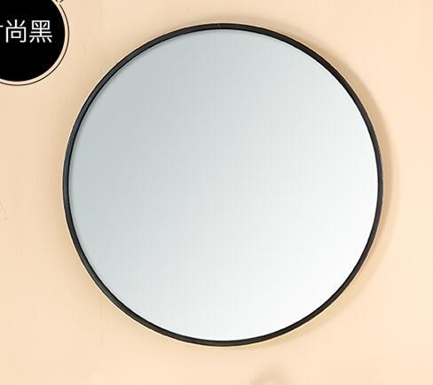 Miroir miroir circulaire avec un miroir mural en fer. Trumeau.