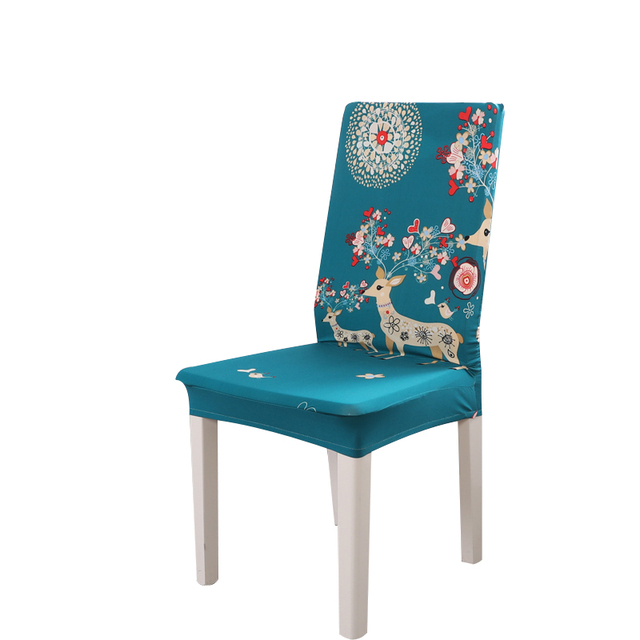 chair covers modern parson dining chairs spandex elastic removable anti dirty printing cover kitchen seat case stretch covering
