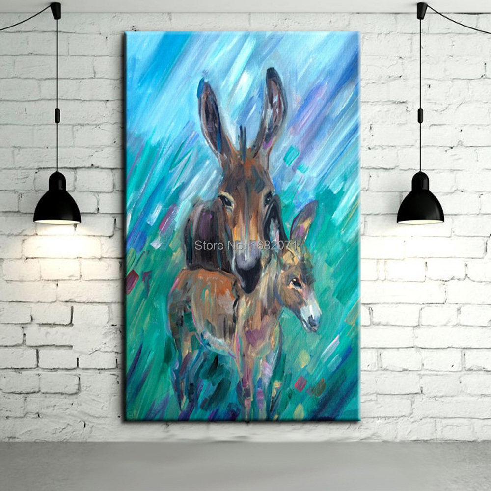 Compare Prices On Donkey Oil Painting Online Shopping Buy Low Price Donkey Oil Painting At