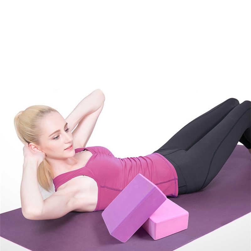 Niestandardowe LOGO blok do jogi EVA kolorowe blok piankowy cegły ćwiczenia Fitness narzędzie ćwiczeń treningu rozciąganie ciała kształtowanie szkolenia