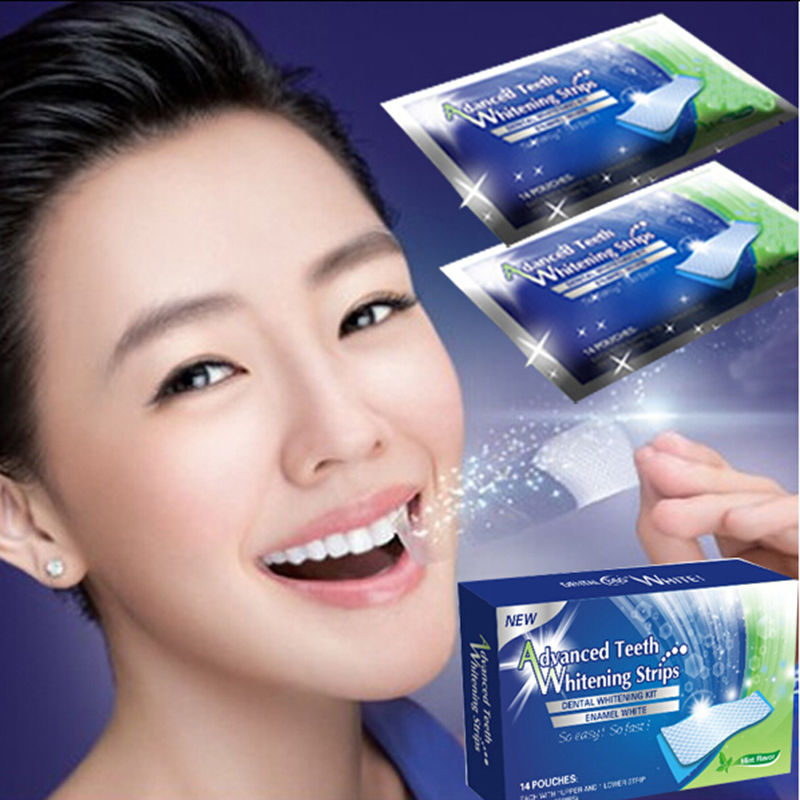 1pcs Dental Teeth Whitening Strip Tooth Whitening Strip Tooth Bleaching Whiter Whitestrips Set White Smaile Clinic