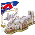 145 PCS de Westminster Abbey 2016 New 3D Jigsaw Puzzle DIY Modelo de Montagem Conjunto De Construção Arquitetura presente Criativo Crianças Brinquedos Para Crianças