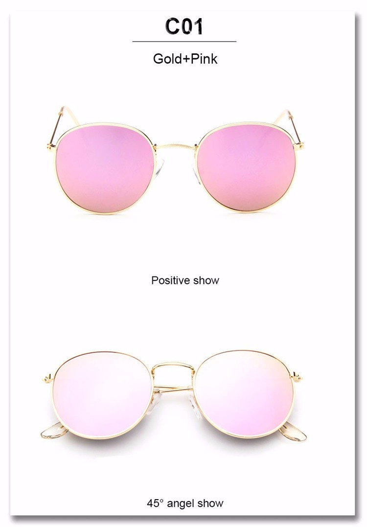 Luxury Brand Design Round Sunglasses Women Men Brand Designer Vintage Retro Mirror Sun Glasses For Women Female Ladies Sunglass (18)