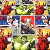 140X100cm Marvel Super Hero The Avengers Bust Photos Cotton Fabric For Baby Boy Clothes Sewing Hometextile
