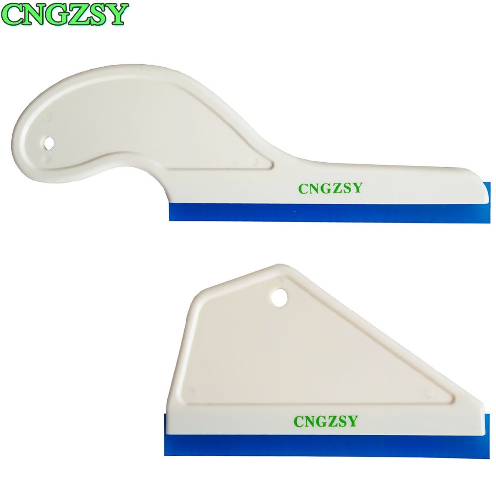 2pcs Portable Car Water Wiper Glass Window Drying Rubber Blade Auto Snow Cleaner Handle Scraper For Auto Home Washing B16+B17