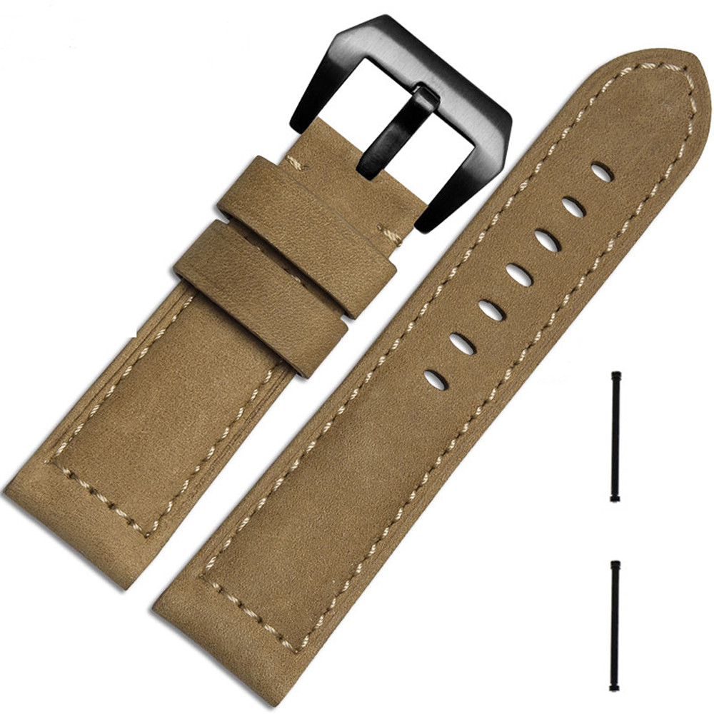 watch band 26mm For Garmin Fenix 3 Leather Bracelet Strap Fashion Design New Watch Band 2017 New Arrival Army Green,Brown,Black