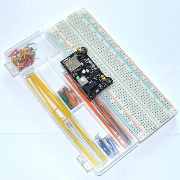 Promotion Sale !! 3.3V/5V MB102 Breadboard Power Module + MB-102 830 points Prototype Bread board+ 140 jumper wires Free