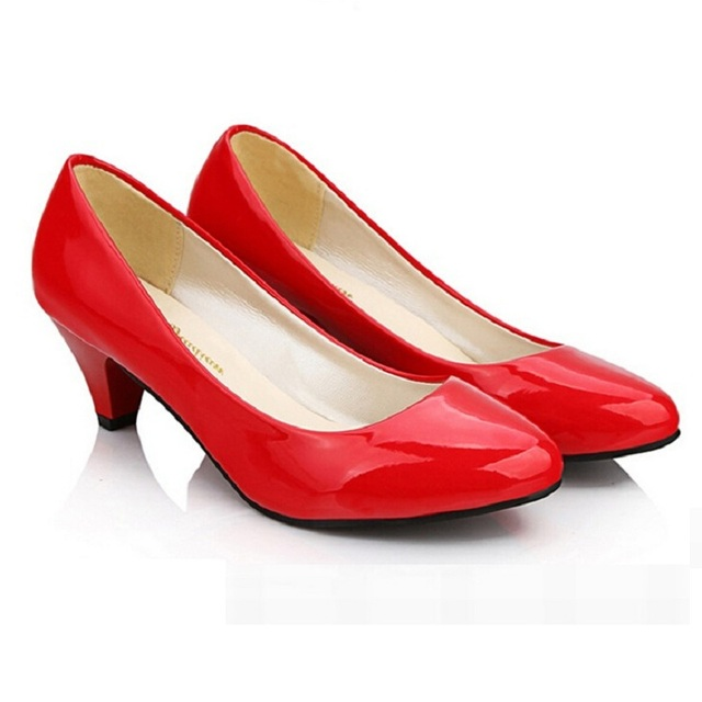 red wedding shoes low heel cheapest low kitten heels women wedding pumps shoes casual 7041