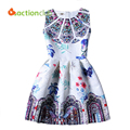 2016 New Design Girls Dress Hot Sales European Style Dresses For Girls 2016 Summer Style Sleeveless Dress For Kids 6-14 Years