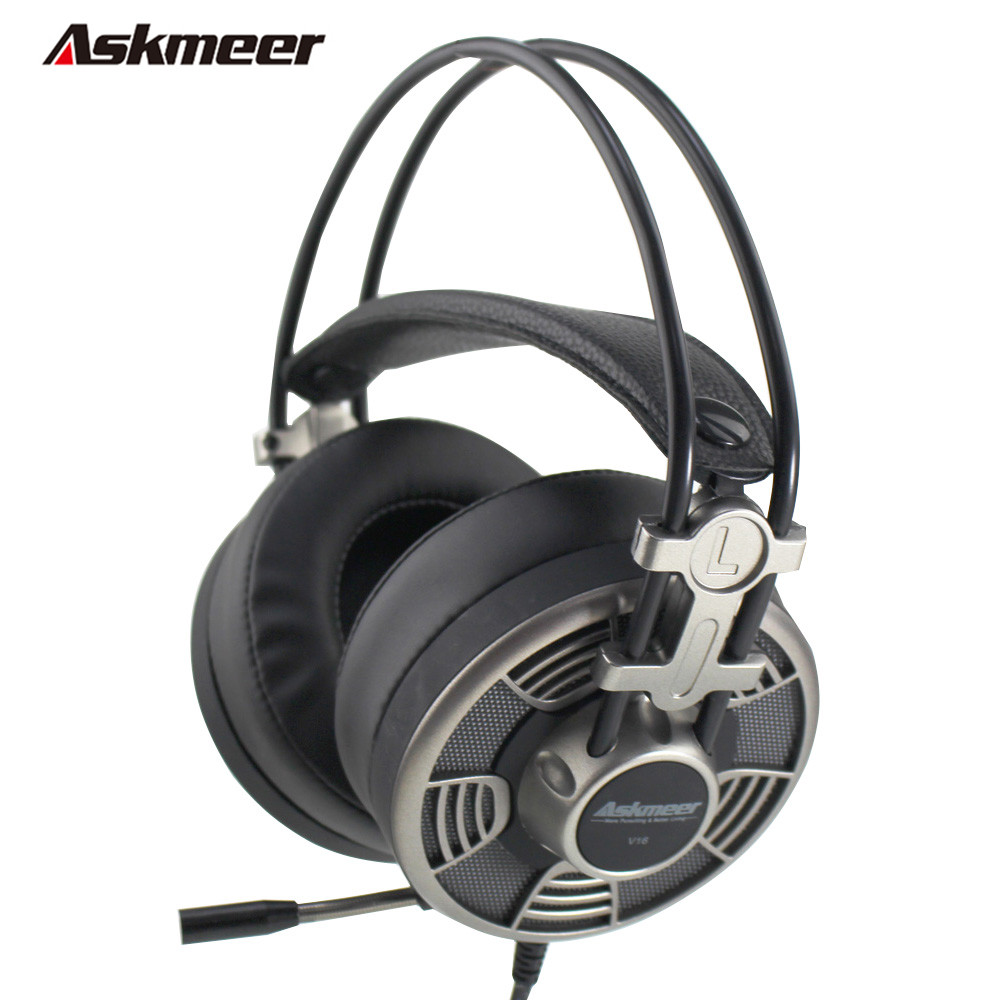 Askmeer V16 Computer USB Gaming Headphones Stereo Game Casque Headset Gamer for PC With Microphone Mic Led Light Big Earmuff lucky john croco spoon big game mission 24гр 004