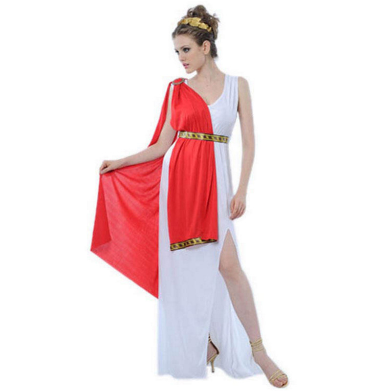 New High Quality Greek Goddess Cosplay Costumes Roman Princess Fancy Party Cleopatra Dress Athena Costume Halloween For Women