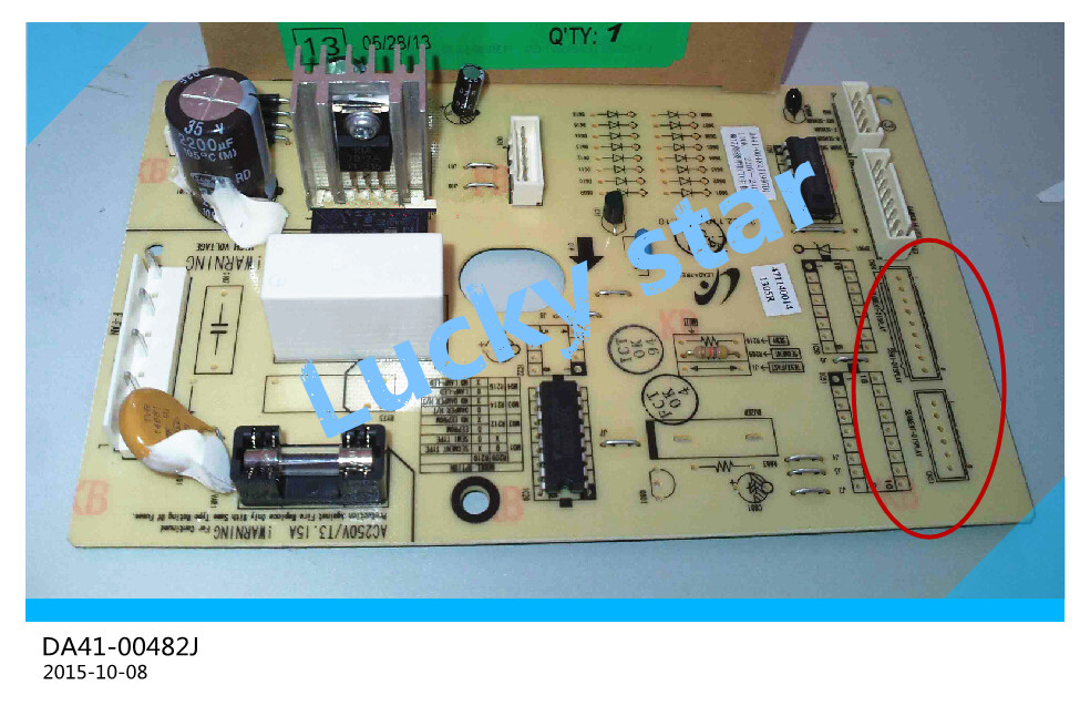 95% new for Samsung refrigerator pc board Computer board DA41-00482J board good working 95% new original good working refrigerator pc board motherboard for samsung rs21j board da41 00185v da41 00388d series on sale