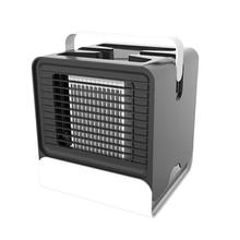 Usb 미니 휴대용 에어 컨디셔너 가습기 정수기 음이온 공기 냉각 팬 공기 쿨러 팬 사무실에 대 한 밤 빛