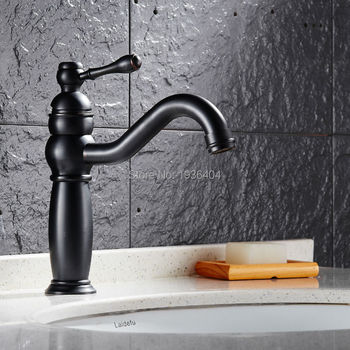 Wholesale and Retail High Quality Black Antique Brass Retro Bathroom Basin Sink Mixer Taps Faucet B3254