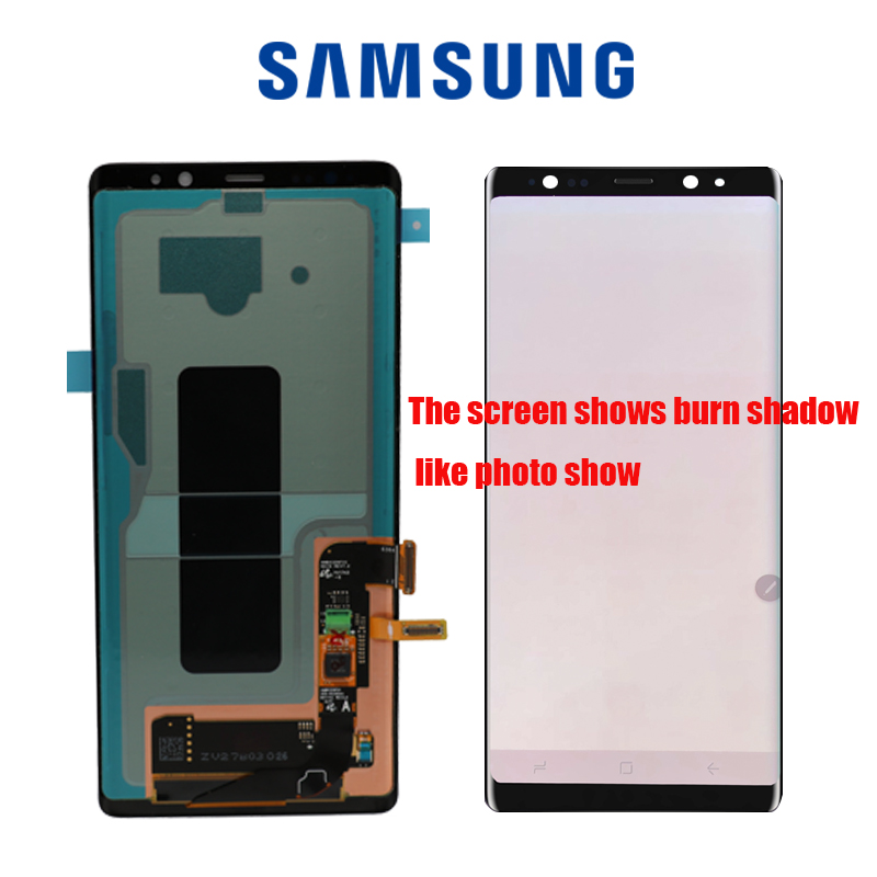 SUPER AMOLED 6.3'' Display with Burn Shadow LCD  for SAMSUNG GALAXY Note8 N9500 N950F Display Touch Screen Digitizer Assembly