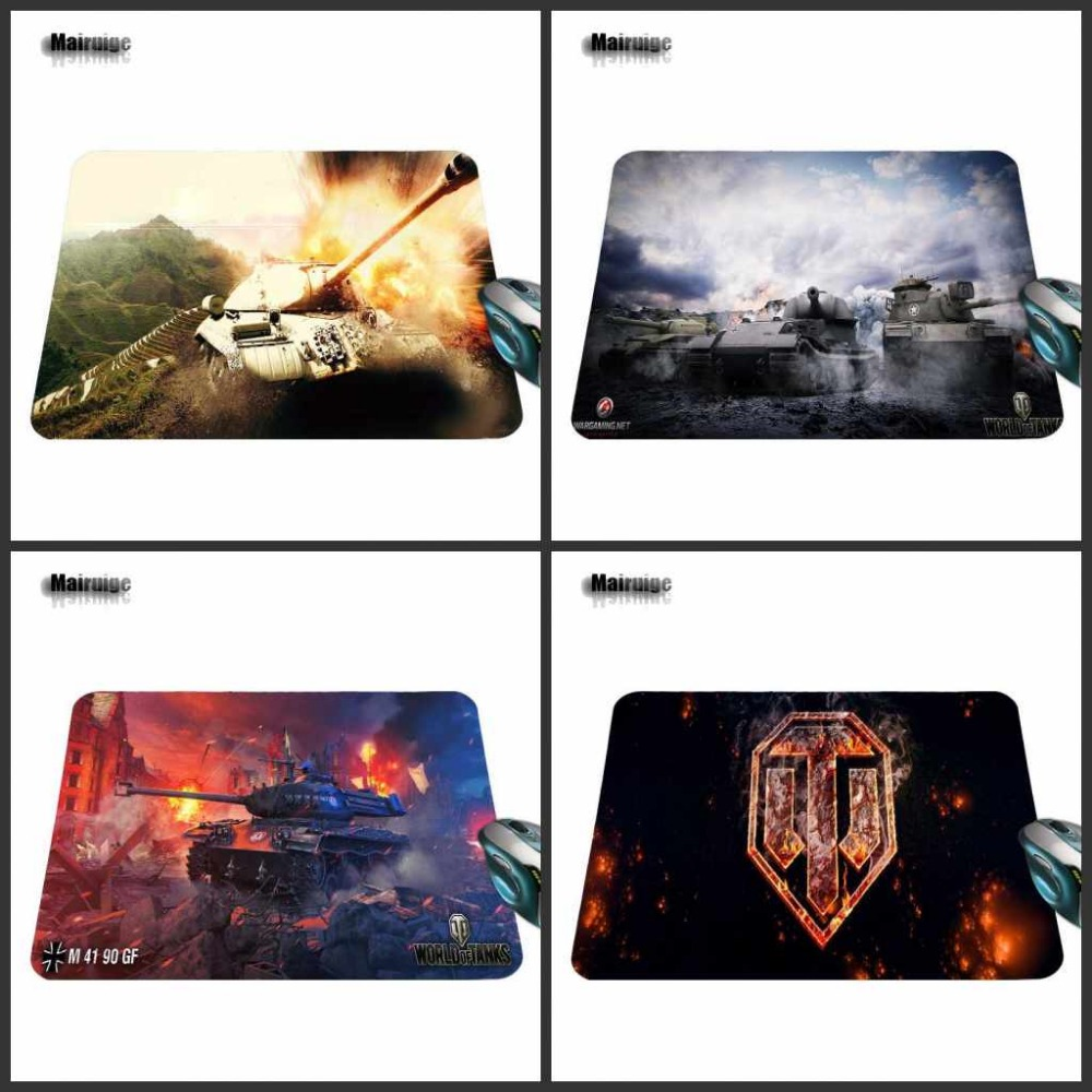 Cool World of Tanks Background Pattern Comfort Non-Skid Pad for Optical Game Speed Decorate Your Desk Non-Skid Rubber Mouse Pad