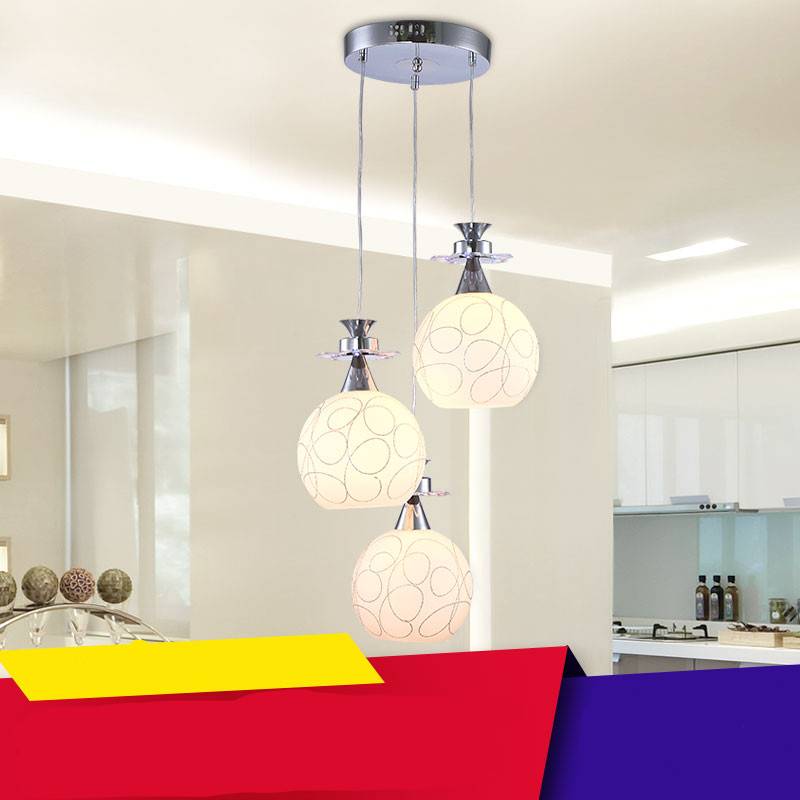 Authentic LED lamps three head lamps and lanterns of contemporary and contracted dining room restaurant absorb dome light contemporary and contracted ceramic lamp led three restaurant bar dining room of chinese style lamps and lanterns