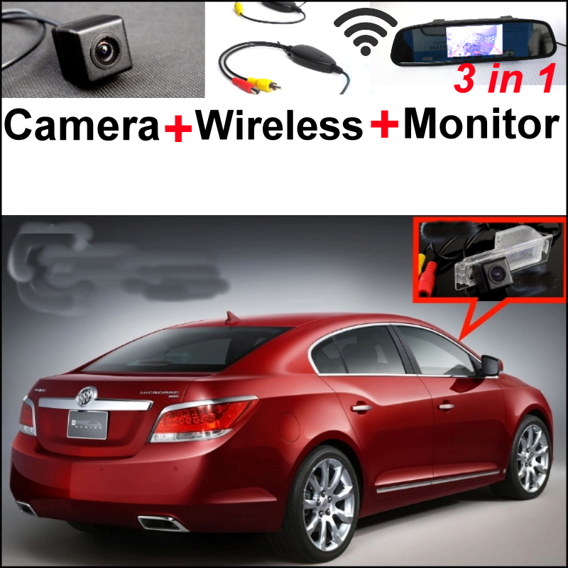 3in1 Special WiFi Camera + Wireless Receiver + Mirror Monitor Rera View Parking System For Buick LaCrosse / Allure 2009~2014 wireless pager system 433 92mhz wireless restaurant table buzzer with monitor and watch receiver 3 display 42 call button