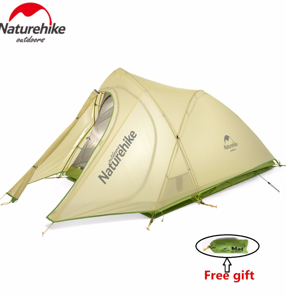 Naturehike Factory Store Cirrus 2 2 Person 3 Season Camping Tent Ultralight Large Space Camping Tent DHL free shipping