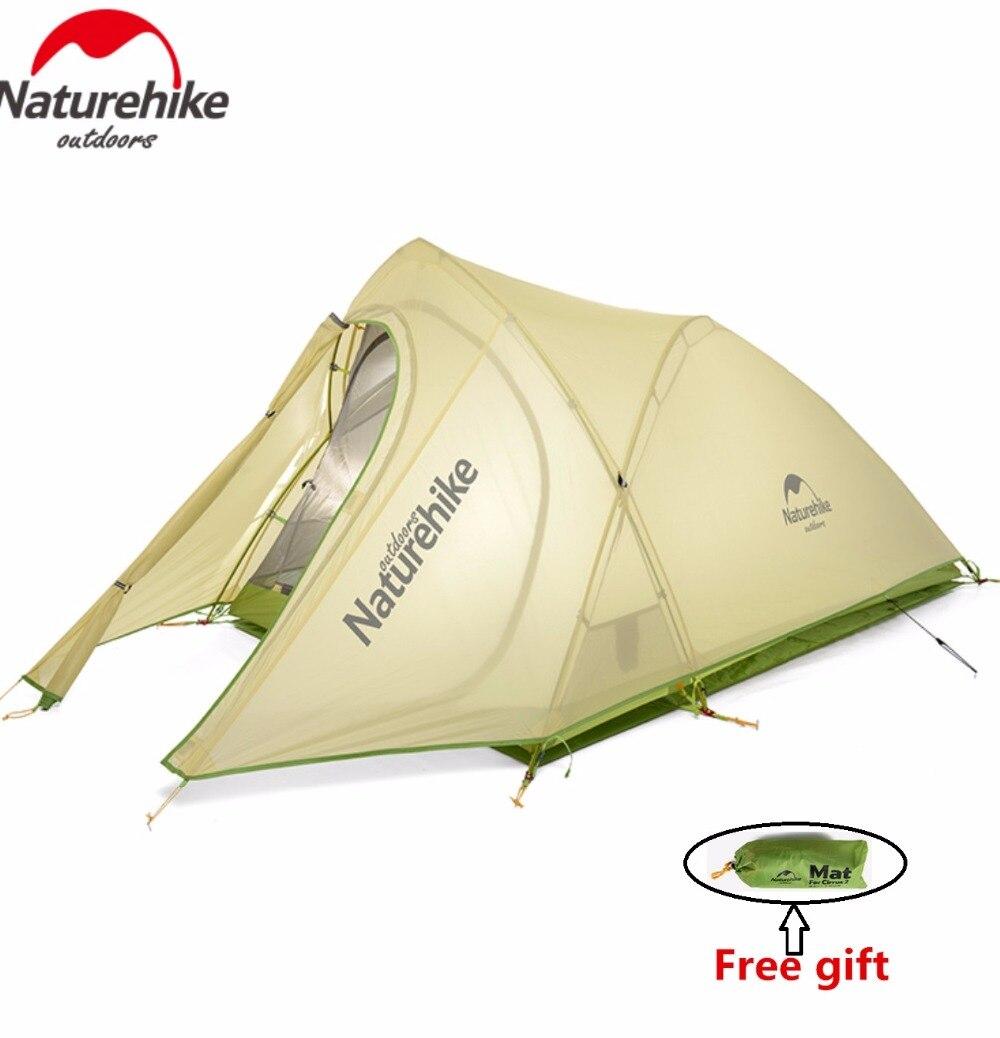 Naturehike Factory Store Cirrus 2 2 Persone 3 Stagione Tenda Da Campeggio Ultralight Grande Spazio Tenda Da Campeggio di trasporto libero del DHL