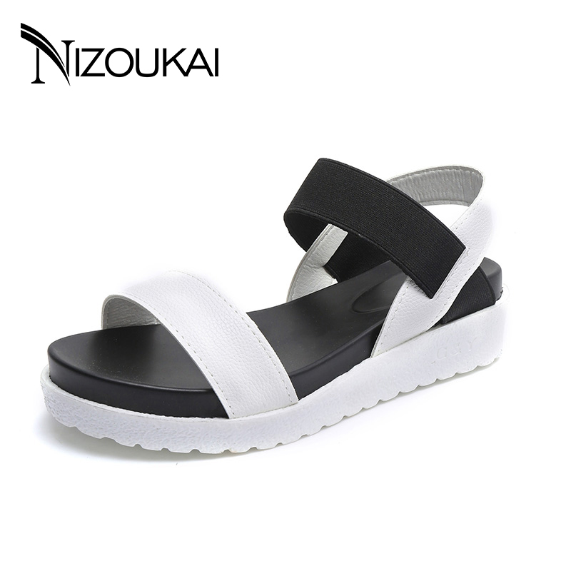 Women Flats Sandals Fashion Superior Quality Comfortable Bohemian Women summer shoes For Lady Shoes Platform Sandals Black Shoes mcckle fashion superior quality comfortable bohemian wedges women sandals for lady shoes high platform open toe flip flops plus