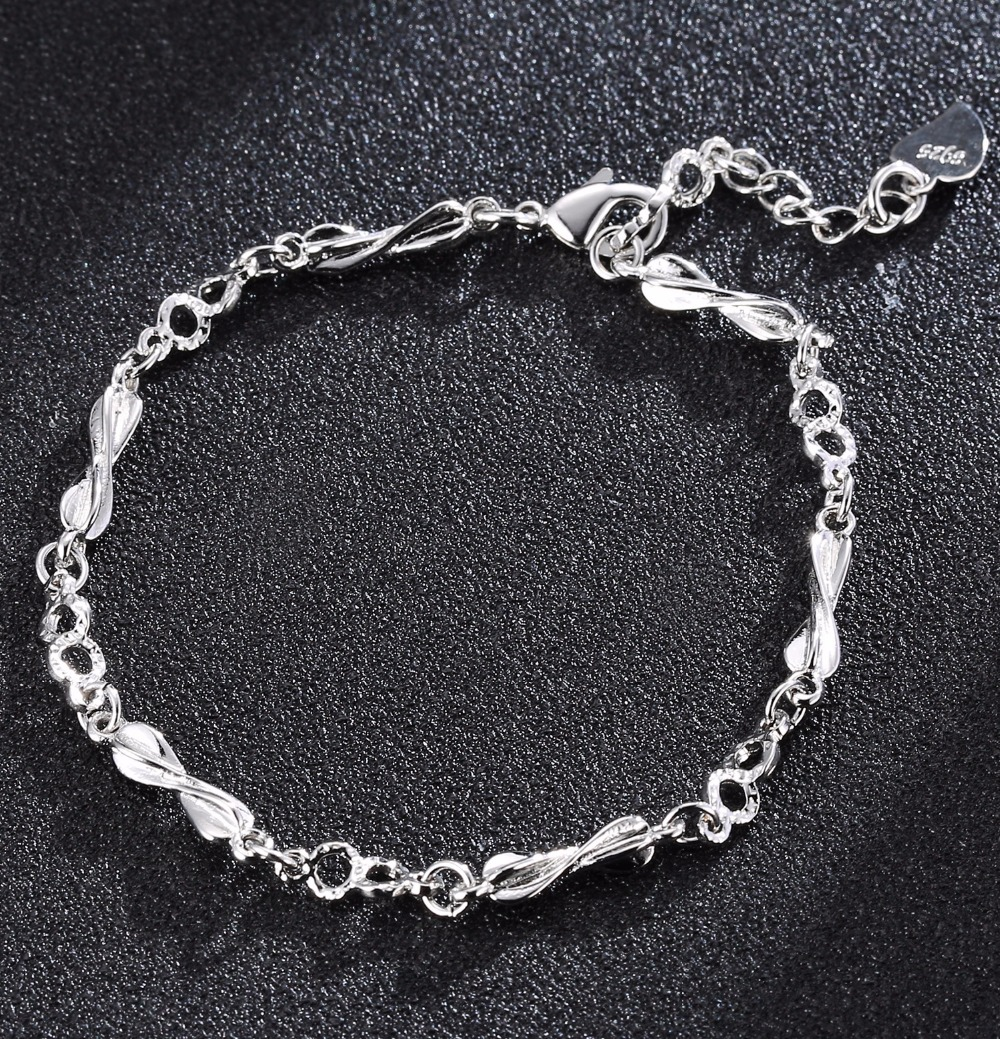 ZTUNG CAB3 925 Sterling Silver Charms Bracelets For Women Bracelet pulseira feminina present NO packing or with packing