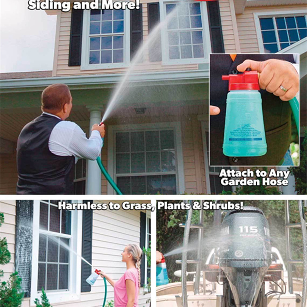 Full Crystal Outdoor Glass Cleaner Home Garden Handheld Spray Mighty Fuller Cleaning Tool Brush