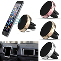 Universal Round Magnetic Car Air Vent Holder Mobile Phone Magnet Stand Mount Cradle For iPhone Samsung Huawei For Cell Phone GPS