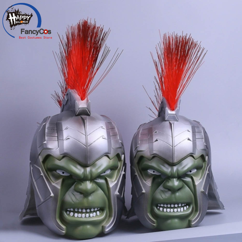 Thor: Ragnarok Hulk Robert Bruce Banner Mask Cosplay Helmet Halloween Latex Mask Props Gifts Mask High Quality