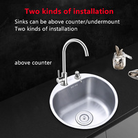 ORENBO&Nanwo Polished Kitchen Sink faucet Kitchen Mixer Cold and Hot Kitchen Tap Stainless Steel Kitchen Sinks With Drain Pipe