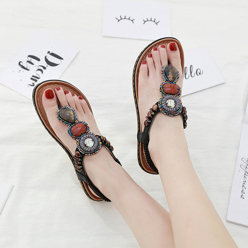 LAASIMI Sandals Women Casual Holiday Women Summer Shoes Flip Flop String Bead Ladies Shoes Female Slippers Vacation Sandals in Women 39 s Sandals from Shoes