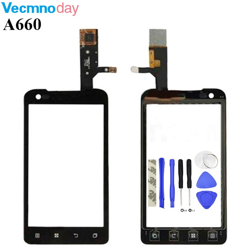Vecmnoday Original Touch screen Digitizer For Lenovo A660 Window Front Touchscreen Panel Sensor Glass Lens Replacement +tools