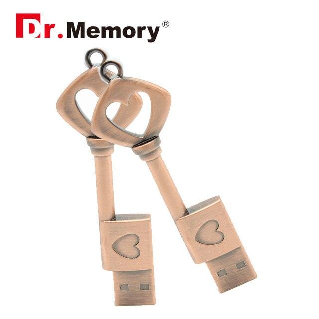 Metal Love key usb flash drive 32gb 16gb sweet girl gifts mini pen drive high speed memory stick real capacity external usb disk