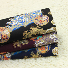 half yard thicken cotton fabric gilt Chinese dragon print handmade DIY bag cloth 100% T440