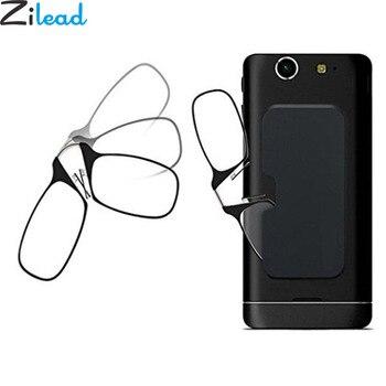 6b9fc7f6f8 Zilead portátil TR90 Clip de la nariz gafas de lectura blanco caja del  teléfono para las mujeres y los hombres de bolsillo Mini gafas de presbicia  Universal ...