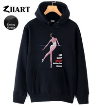 Ballet Dancer Life Eat Sleep Ballet Nothing Else Matters Couple Clothes Autumn Winter Fleece Girls Woman Hoodies ZIIART цена и фото