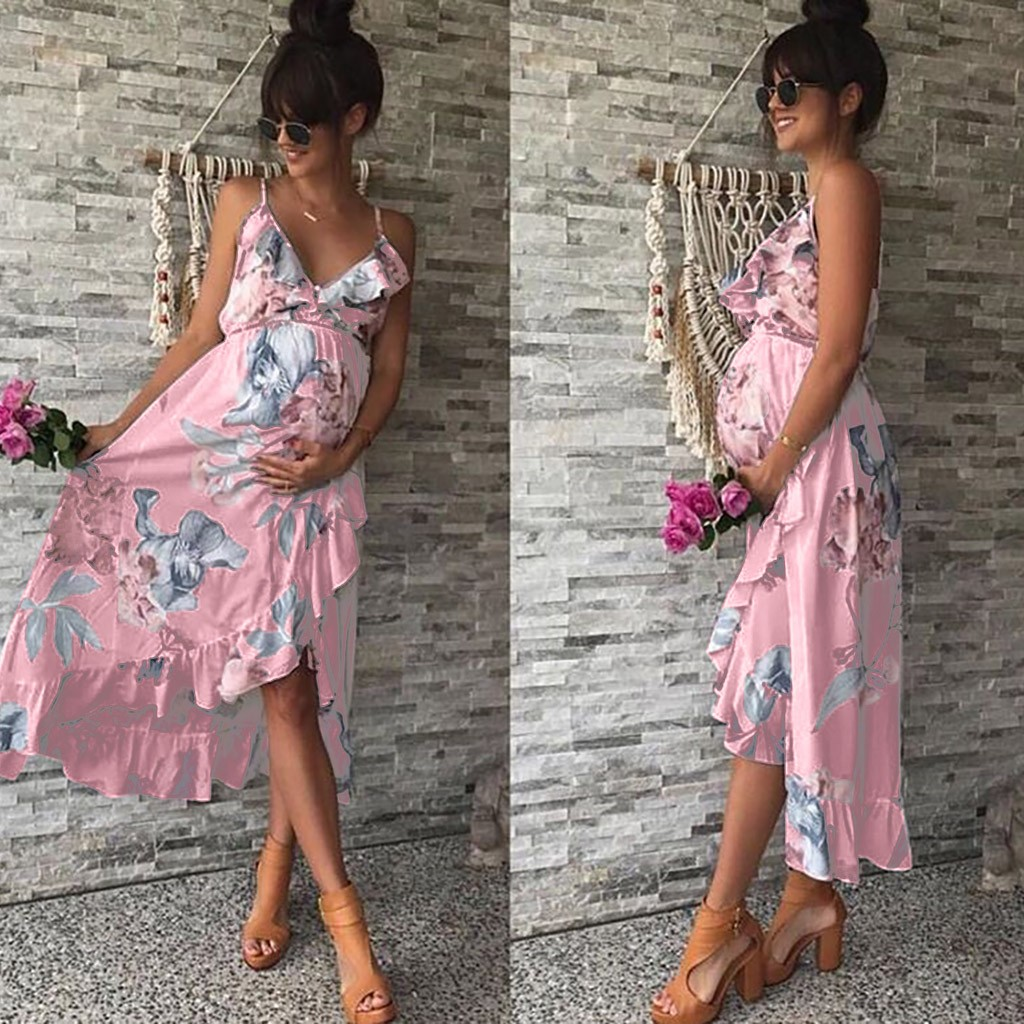 8c1eeda21e Maternity Dresses Maternity Clothes Pregnancy Dress Pregnant Dress Casual  Floral Falbala Pregnants Dress Comfortable Sundress