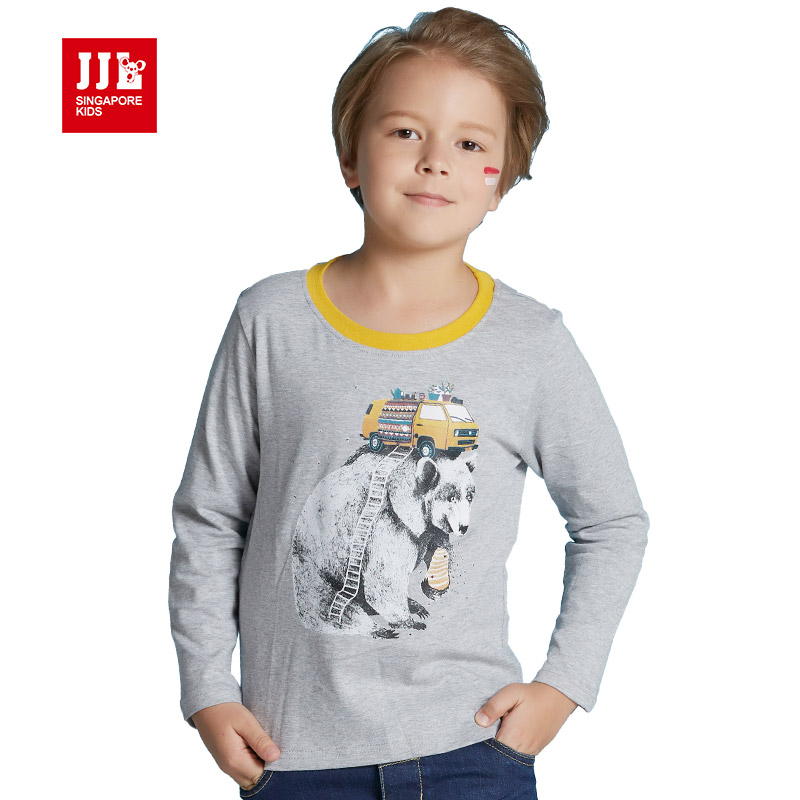 Boys t shirt long sleeve kids tshirts animal print kids for Leopard print shirts for toddlers
