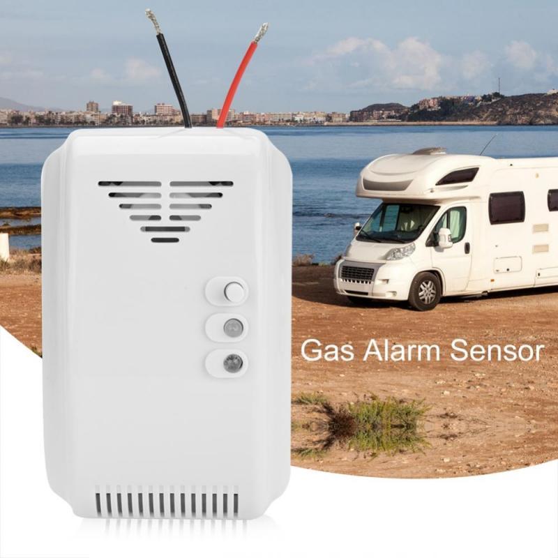 12V Natural Gas Alarm Sensor leaking Detect LED Flash Detector Motor Sound Propane Butane LPG