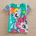 Retail NEAT kids 2014 new free shipping 18M/6Y 5pieces /lot 100% cotton printed and embroidered summer wear,girls t shirts 2152