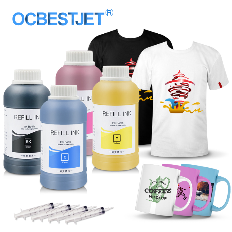 4 x 250ml Universal Sublimation Ink For Epson Printers Heat Transfer Ink Heat Press Sublimation Ink Used For Mug Cup/T Shirt-in Ink Refill Kits from Computer & Office
