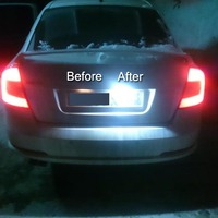 Error Free 2x led rear number plate lamp for Audi A6 S6 RS4 Avant S4 B5 Avant RS6 A4 B5 A6 B4 C5 Car replacement styling