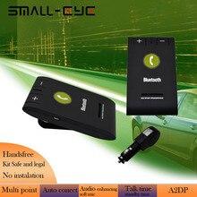 SMALL-EYE A2DP Bluetooth 4.0 + EDR Динамик Автомобиля Автомобильный Комплект МИКРОФОН солнцезащитный Козырек Клип В-Автомобильное Устройство Громкой Связи для iPhone Samsung Sony HTC 8097