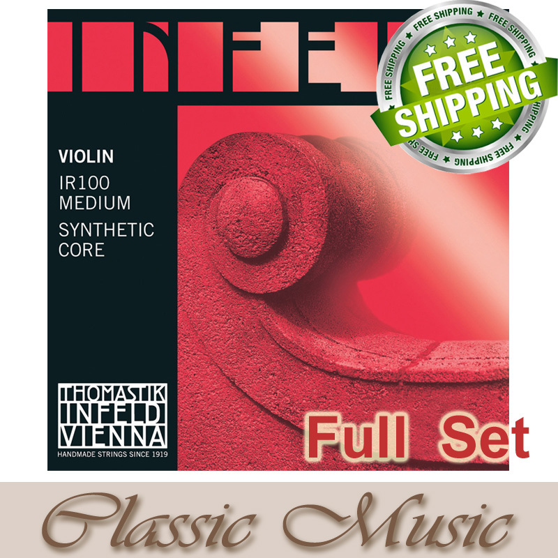 Thomastik Infeld-Red (IR100) Violin Strings ,Full set ,Set 4/4 Medium. Made in Austria. free shipping, original thomastik vision solo vis100 4 4 violin strings full set med alum d made in austria free shipping